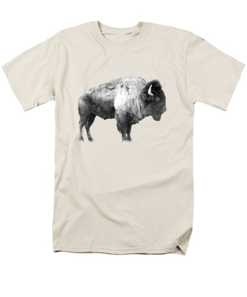 Men's T-Shirt  (Regular Fit) featuring the photograph Plains Bison by Jim Sauchyn