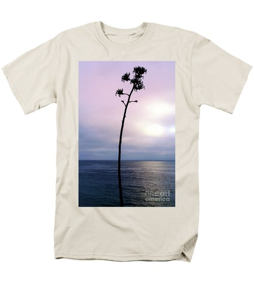 Men's T-Shirt  (Regular Fit) featuring the photograph Plant Silhouette Over Ocean by Mariola Bitner
