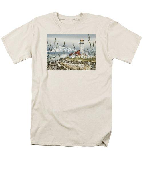 Point Wilson Lighthouse Men's T-Shirt  (Regular Fit) by James Williamson