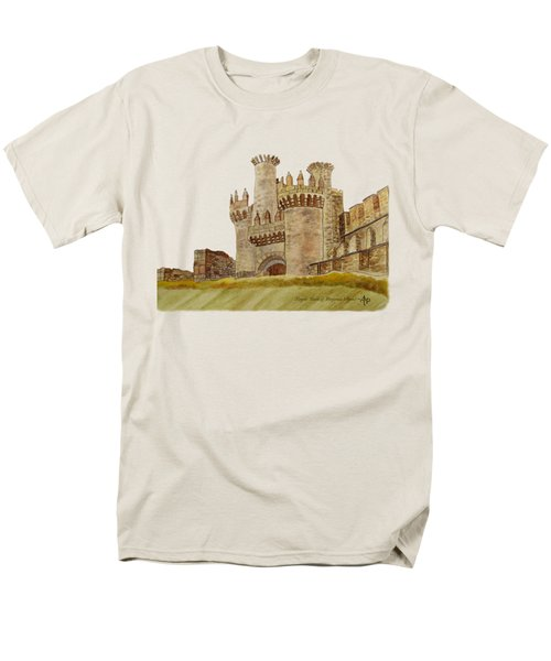 Ponferrada Templar Castle  Men's T-Shirt  (Regular Fit) by Angeles M Pomata