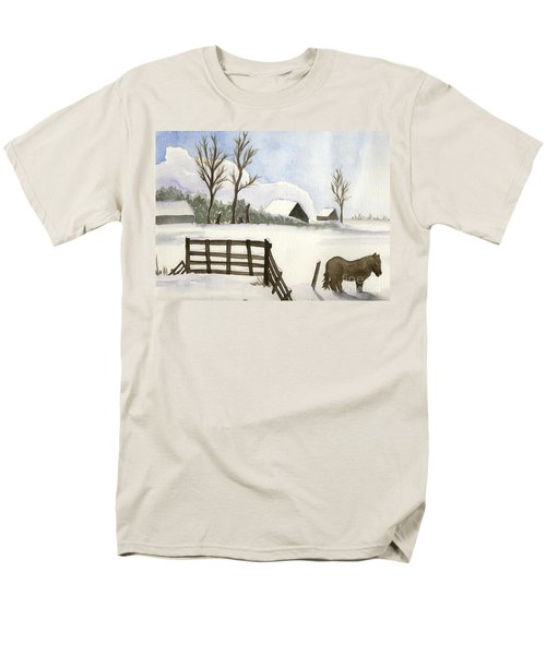 Pony In The Snow Men's T-Shirt  (Regular Fit) by Annemeet Hasidi- van der Leij
