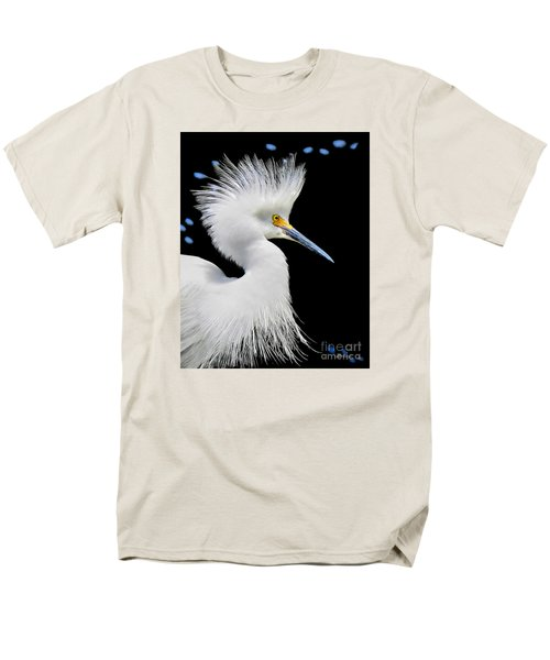 Portrait Of A Snowy White Egret Men's T-Shirt  (Regular Fit) by Jennie Breeze