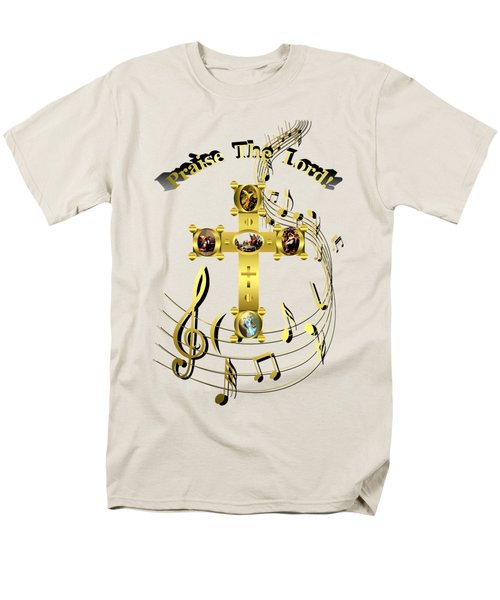 Men's T-Shirt  (Regular Fit) featuring the digital art Praise The Lord by Robert G Kernodle