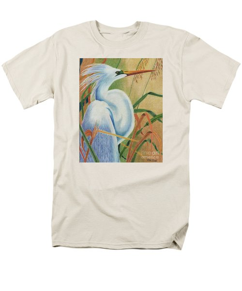 Preening Egret Men's T-Shirt  (Regular Fit) by Peter Piatt