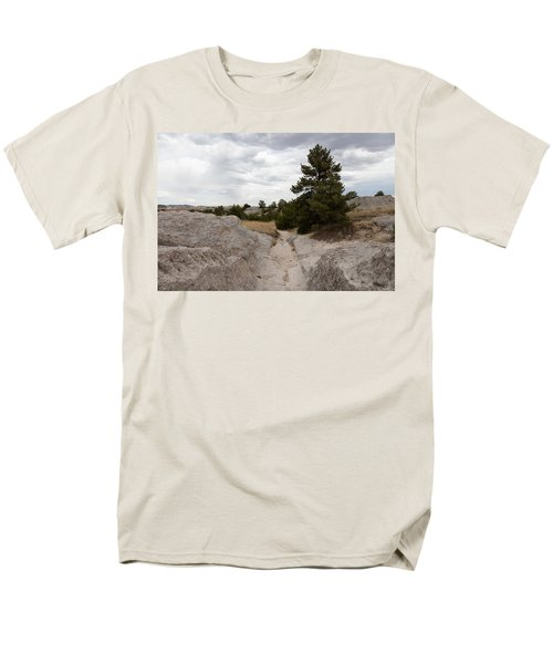 Men's T-Shirt  (Regular Fit) featuring the photograph Preserved Wagon Ruts Of The Oregon Trail On The North Platte River by Carol M Highsmith
