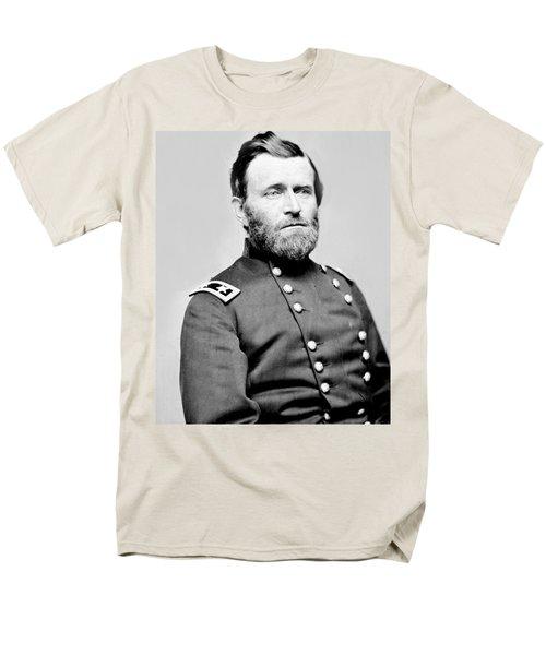 President Ulysses S Grant In Uniform Men's T-Shirt  (Regular Fit) by International  Images