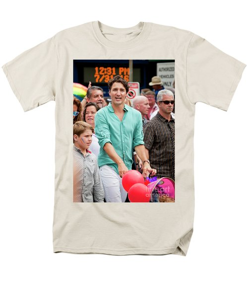 Men's T-Shirt  (Regular Fit) featuring the photograph Prime Minister Justin Trudeau by Chris Dutton