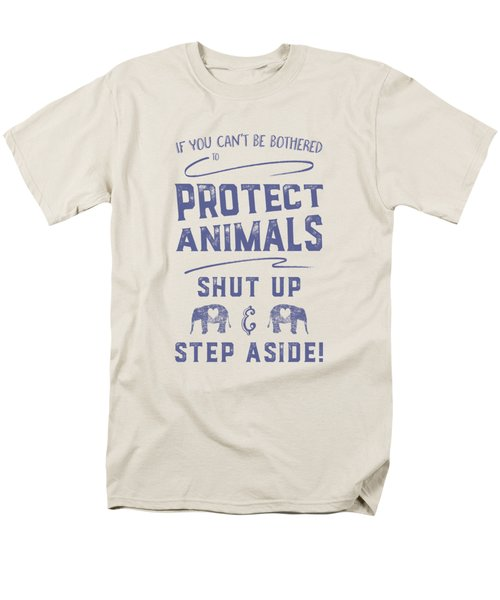 Protect Animals Typography Poster 2 Men's T-Shirt  (Regular Fit)