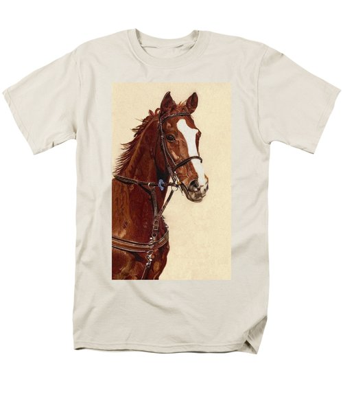 Proud - Portrait Of A Thoroughbred Horse Men's T-Shirt  (Regular Fit) by Patricia Barmatz