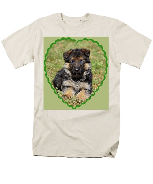 Men's T-Shirt  (Regular Fit) featuring the photograph Puppy In Heart by Sandy Keeton