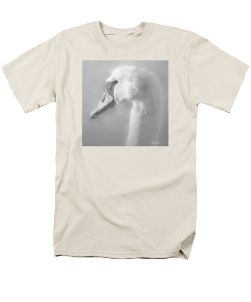 Men's T-Shirt  (Regular Fit) featuring the painting Purity Bw by Rose-Maries Pictures