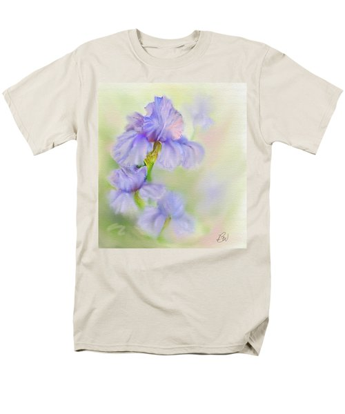 Men's T-Shirt  (Regular Fit) featuring the painting Purple Iris by Bonnie Willis