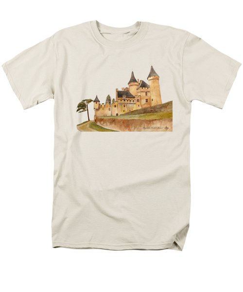 Puymartin Castle Men's T-Shirt  (Regular Fit) by Angeles M Pomata