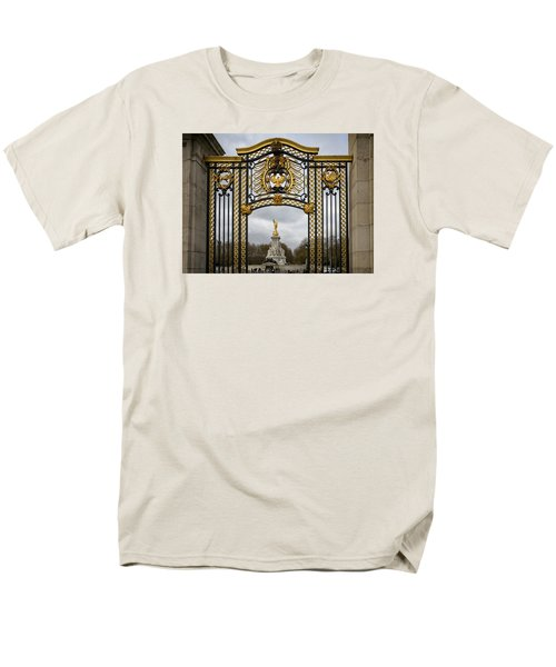 Men's T-Shirt  (Regular Fit) featuring the photograph Queen Victoria's Statue by Shirley Mitchell