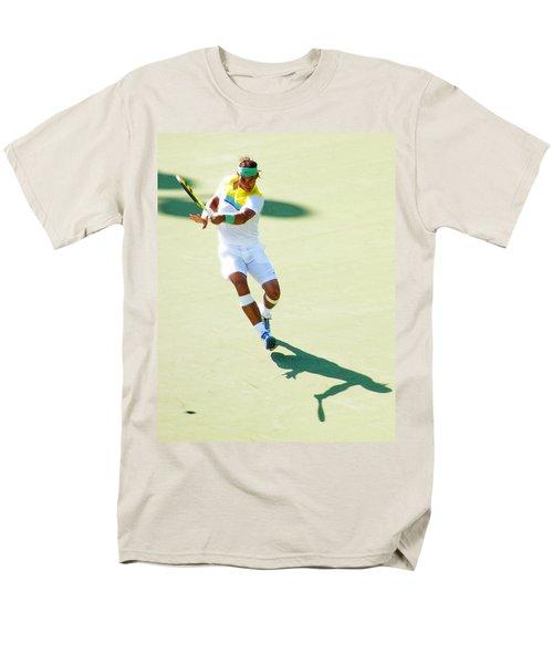 Rafael Nadal Shadow Play Men's T-Shirt  (Regular Fit) by Steven Sparks