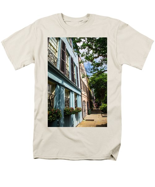 Men's T-Shirt  (Regular Fit) featuring the photograph Rainbow Street by Karol Livote