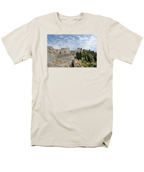 Men's T-Shirt  (Regular Fit) featuring the photograph Ramparts Of Montenegro by Robert Moss