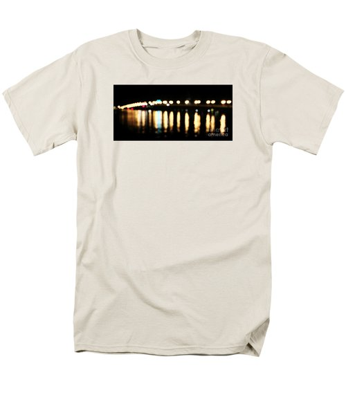 Bridge Of Lions -  Old City Lights Men's T-Shirt  (Regular Fit) by LeeAnn Kendall