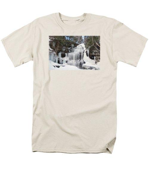 Receding Winter Ice At Ganoga Falls Men's T-Shirt  (Regular Fit)