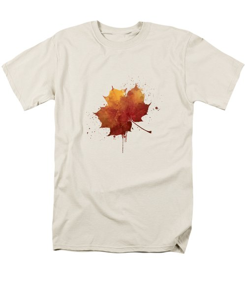 Red Autumn Leaf Men's T-Shirt  (Regular Fit) by Thubakabra