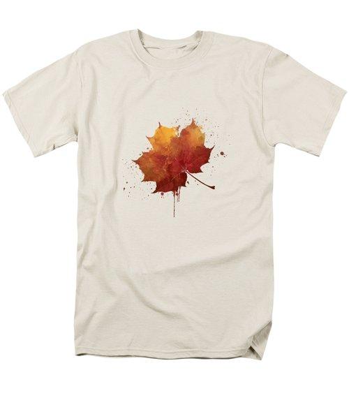Red Autumn Leaf Men's T-Shirt  (Regular Fit)