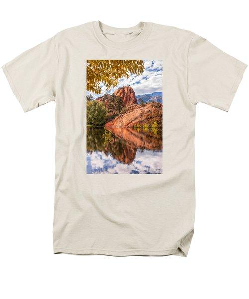 Reflecting At Red Rocks Open Space Men's T-Shirt  (Regular Fit) by Christina Lihani