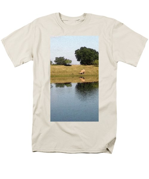 Men's T-Shirt  (Regular Fit) featuring the photograph Reflective Cow by Donna G Smith