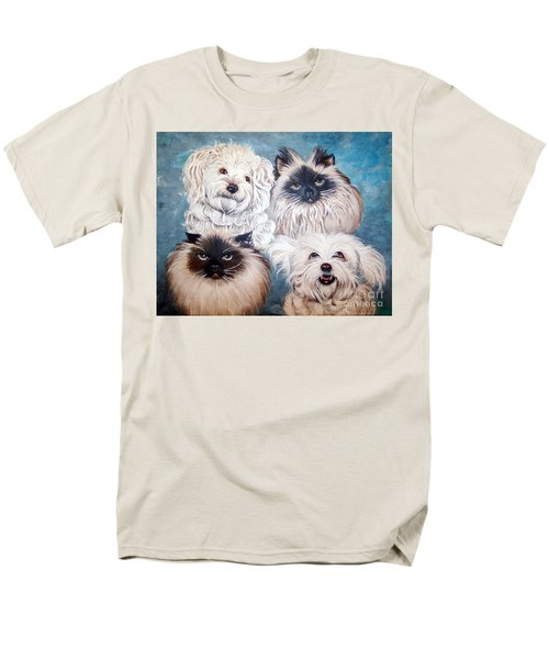 Reigning Cats N Dogs Men's T-Shirt  (Regular Fit) by Nancy Cupp