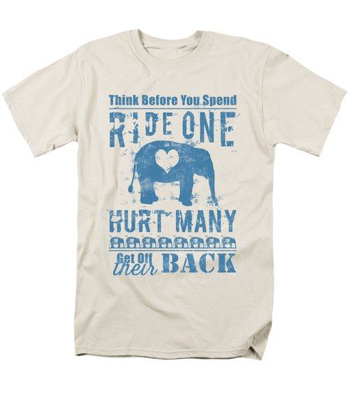 Men's T-Shirt  (Regular Fit) featuring the digital art Ride One Elephant Hurt Many by Nola Lee Kelsey