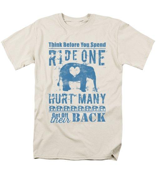 Ride One Elephant Hurt Many Men's T-Shirt  (Regular Fit)
