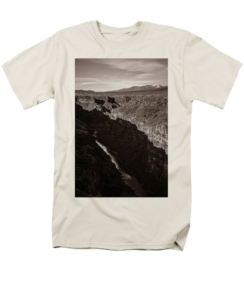 Men's T-Shirt  (Regular Fit) featuring the photograph Rio Grande River Taos by Marilyn Hunt