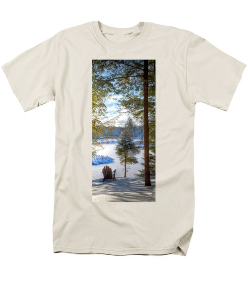 River View Men's T-Shirt  (Regular Fit) by David Patterson