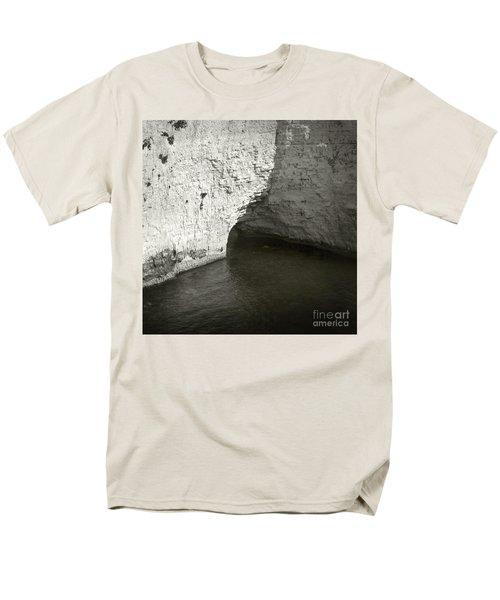 Men's T-Shirt  (Regular Fit) featuring the photograph Rock And Water by Sebastian Mathews Szewczyk