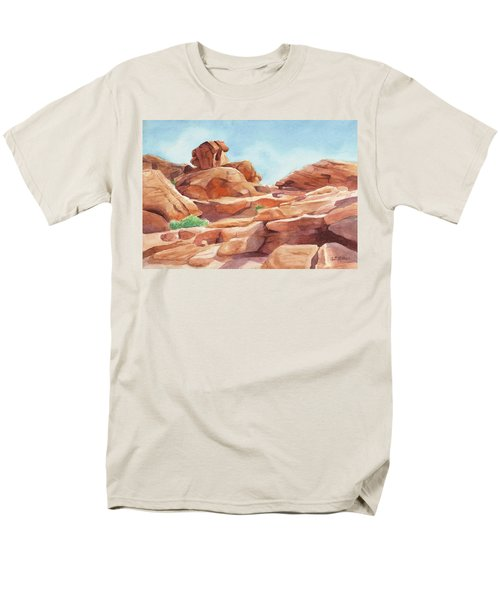 Rock Away Men's T-Shirt  (Regular Fit) by Sandy Fisher