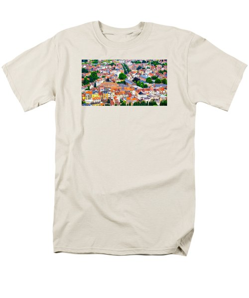 Men's T-Shirt  (Regular Fit) featuring the photograph Rooftops by Pravine Chester