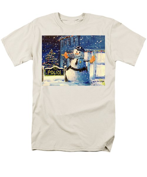Rookie Working Christmas Eve Men's T-Shirt  (Regular Fit) by Jack Skinner