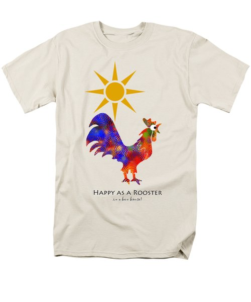 Rooster Pattern Art Men's T-Shirt  (Regular Fit) by Christina Rollo