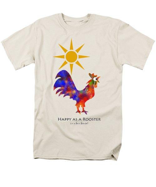 Rooster Pattern Art Men's T-Shirt  (Regular Fit)