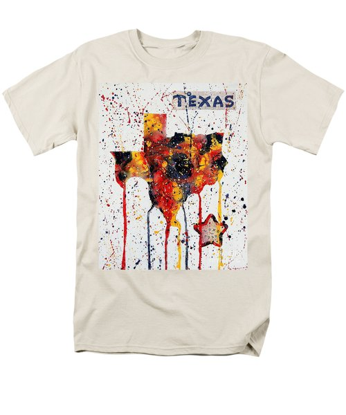 Men's T-Shirt  (Regular Fit) featuring the painting Rooted In Texas by Tamyra Crossley