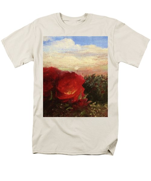 Men's T-Shirt  (Regular Fit) featuring the painting Rosebush by Mary Ellen Frazee