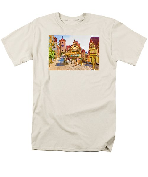Rothenburg Little Square Men's T-Shirt  (Regular Fit) by Dennis Cox WorldViews