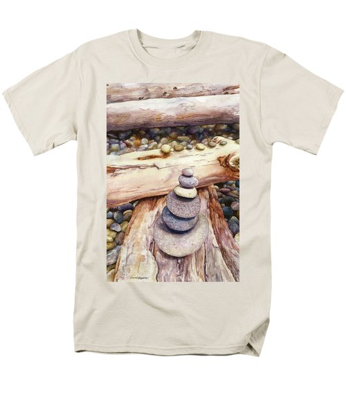 Men's T-Shirt  (Regular Fit) featuring the painting Ruby Beach by Anne Gifford