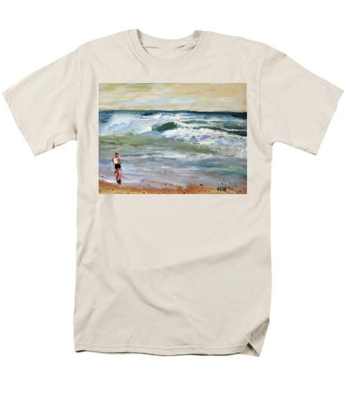 Running The Beach Men's T-Shirt  (Regular Fit) by Michael Helfen