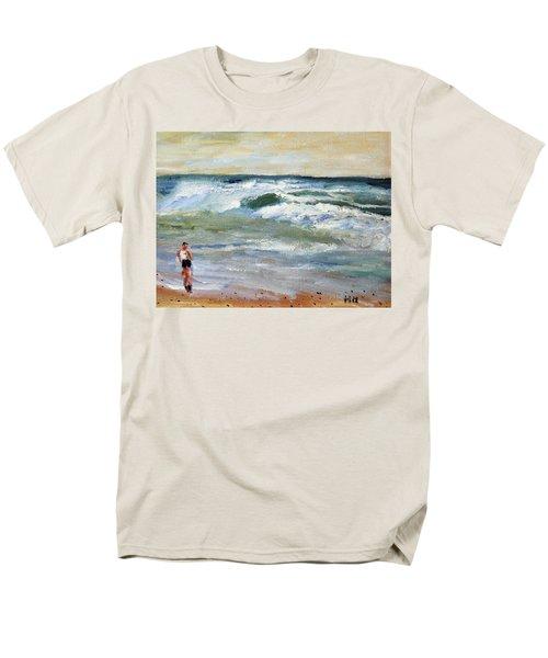 Running The Beach Men's T-Shirt  (Regular Fit)