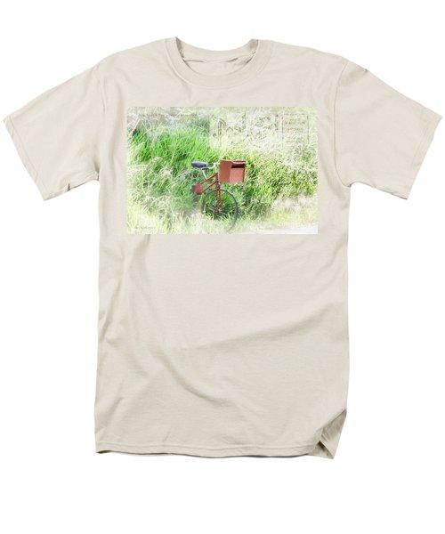 Men's T-Shirt  (Regular Fit) featuring the photograph Rural Mailbox by Jean OKeeffe Macro Abundance Art