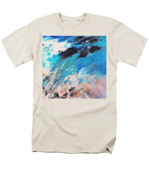 Men's T-Shirt  (Regular Fit) featuring the painting Rushing Water by M Diane Bonaparte
