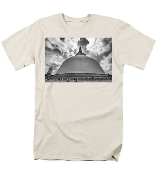 Men's T-Shirt  (Regular Fit) featuring the photograph Ruwanwelisaya, Anuradhapura, 2012 by Hitendra SINKAR