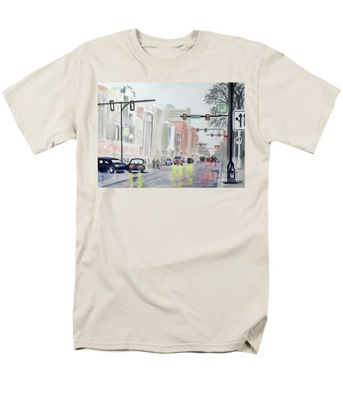 S. Main Street In Ann Arbor Michigan Men's T-Shirt  (Regular Fit) by Yoshiko Mishina