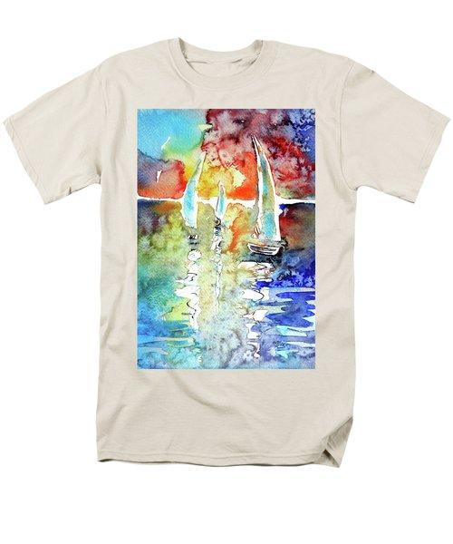 Sailboats In Light Men's T-Shirt  (Regular Fit) by Kovacs Anna Brigitta