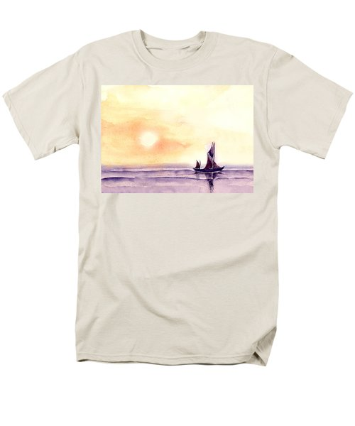 Men's T-Shirt  (Regular Fit) featuring the painting Sailing by Anil Nene
